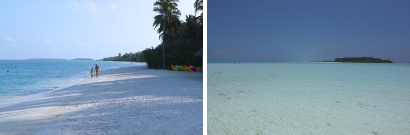 Endloser, weißer Sandstrand und Spass für Kids und Eltern: auch flaches Wasser, sogar bis zum Horizont!