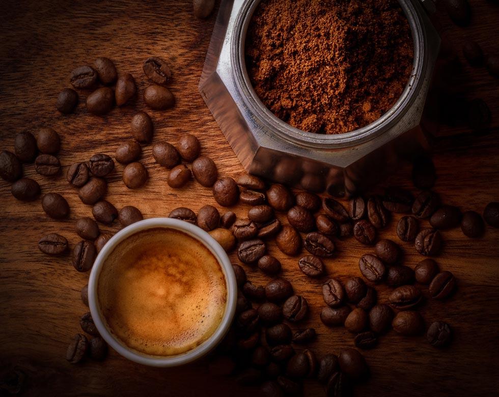 Gesichtsmasken aus Kaffee