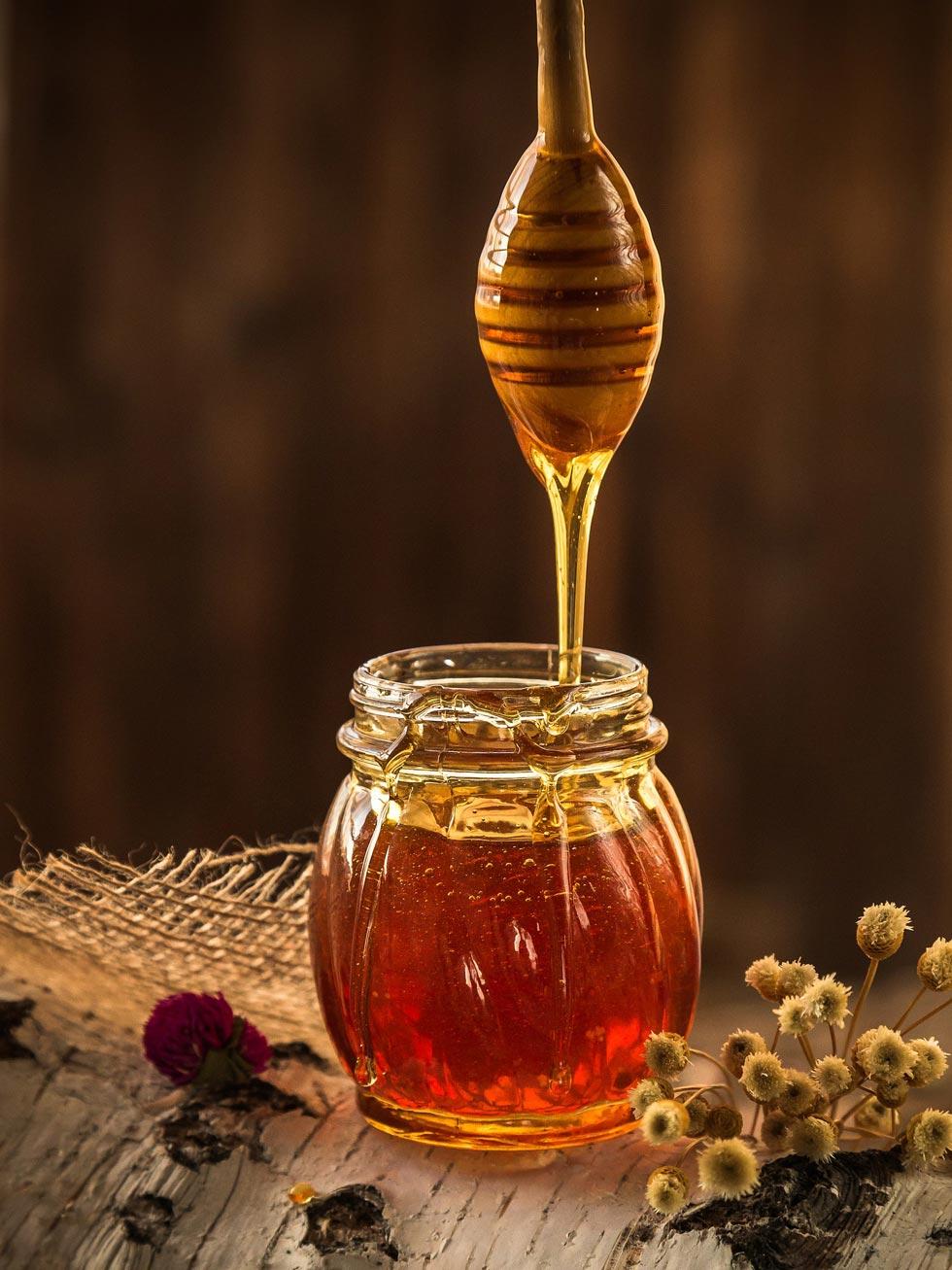 Gesichtsmasken aus Honig